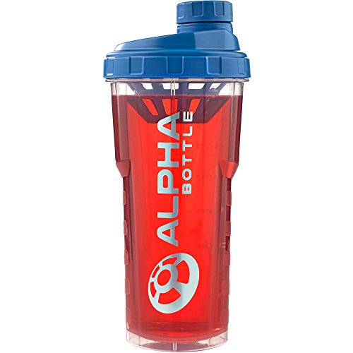 Alpha Bottle 750ml proteine shaker (blu)