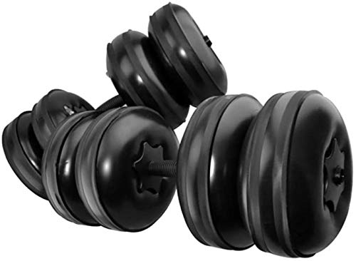 1 Paar Einstellbare Wasser gefüllten Hantel Langhantel Gewicht Gym Lifting Home Training Fitness Lifting Workout (Geeignet for 16-20kg)