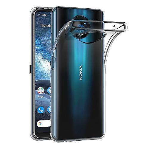 AICEK Hülle Compatible für Nokia 8.3 Transparent Silikon Schutzhülle für Nokia 8.3 Hülle Clear Durchsichtige TPU Bumper Nokia 8.3 Handyhülle (6,81 Zoll)