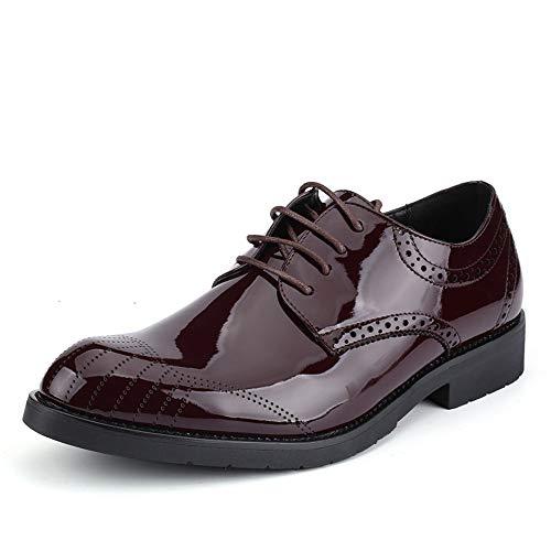 Formaat, plat, ademende herenmode ademend Oxford casual comfortabele ronde teen jeugd trend ademend lakleder formele schoenen Oxford Shoes voor mannen