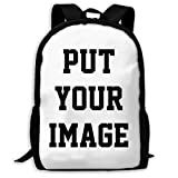 Custom Backpack, Your Own Personalized Image School Bag, Teens Girls Boys Book Bag Large Capacity Shoulder Bags