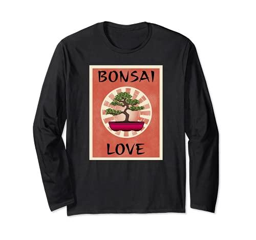 BONSAI LOVE - Ventilador para árbol en miniatura, diseño de árbol Manga Larga