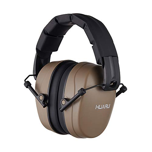 Noise Reduction Ear Muffs for Hunting, Shooting Ear Protection Headphones Fits for Adults to Kids Hearing Protection Ear Muffs Noise Cancelling Ear Protector (Brown)