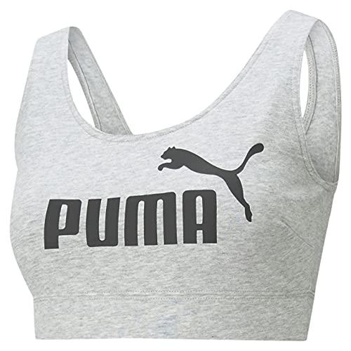PUMA Mujer Essential Sujetador Deportivo Casual Ligero Gris Claro XS