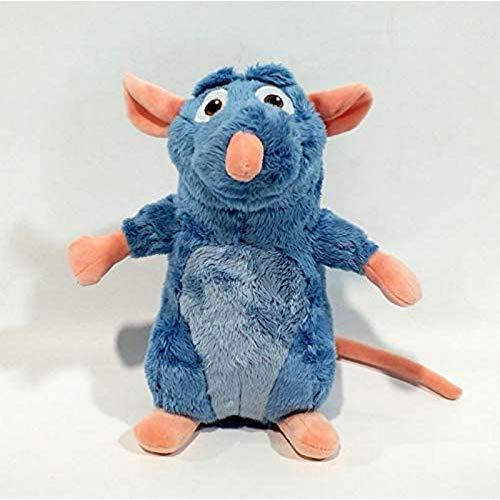 Avkeyu Ratatouille Lei Mickey Mouse muñeco de Peluche Lindo Animal de Peluche Regalo de cumpleaños para niños y Parejas 1 Pieza 25 cm