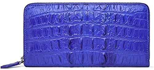 YNSH Leder Geldbörse für Damen - Damen Leder Lange Geldbörse Krokodilleder Muster Lederwaren Reißverschluss, viel Platz, 1 Handytasche