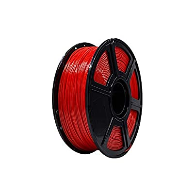 Flashforge PLA 1.75mm 3D Printer Filaments 1kg Spool-Dimensional Accuracy +/- 0.05mm for Creator Pro (Red)