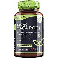 Maca Andina Capsulas 3500 mg 180 Cápsulas Veganas con Maca de Alta Potencia Suministro para 6 Meses Producto elaborado en el Reino Unido por Nutravita