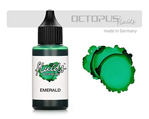 30ml Fluids Alcohol Ink EMERALD, Alkoholtinte für Fluid Art und Resin, grün