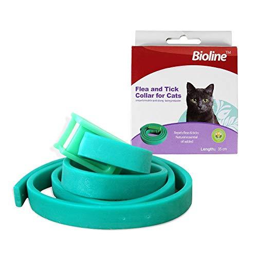 Volwco Flohhalsband Für Katze, Floh- Und Zeckenhalsband Für Katzen, Verstellbare & Wasserdichtes Haustier Flohhalsband - Natürliche Formel, Keine Nebenwirkungen