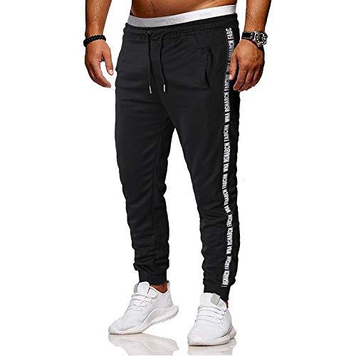 Largos Pantalones Casuales para Hombre Moda Pop Pantalones Deportivos Estiramiento Color sólido Deportivo Pantalon Fitness Chandal Hombre Pantalones de Playa riou