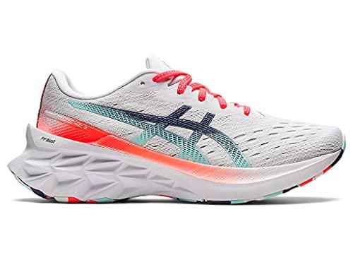 ASICS Women's Novablast 2 Running Shoes, 6.5, White/White