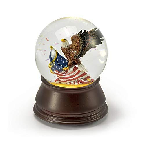 Patriottische Amerikaanse adelaar met Amerikaanse vlag muzikale waterbol - meer dan 400 liedjes keuzes