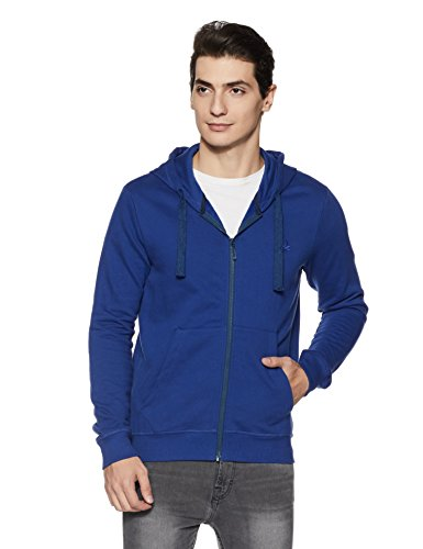 United Colors of Benetton Men's Cotton Sweatshirt (17A3S44J8002I902L_Blue_L)