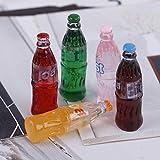 FADACAI 5 Stücke 1:12 Farbe zufällig Simulation Puppenhaus Soda Cola Drink Cup Spielzeug Für...
