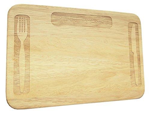 Brotbrett Blindenschrift Braille Wunschgravur Frühstücksbrett Holz