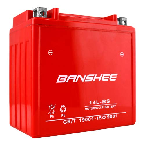 Banshee Replaces YTX14L-BS Motorcycle Battery for HARLEY-DAVIDSON XL XLH Sportster 1200CC 04-'19