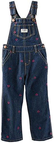 OshKosh B'Gosh Latzhose mit Herzen Bestickt Jeans Mädchen Girl Pant Jeanshose Baby (0-24 Monate) (62/68)