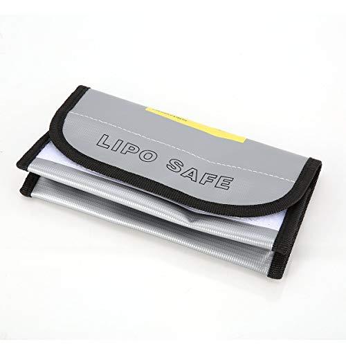 OocciShopp Bolsa de Seguridad para batería, ignífugo LiPo Bolsa para batería LiPo Safe Guard Caja de Carga Bolsa Bolsa para Saco Ignífugo A Prueba de explosiones para RC Modelo Drone Car (Plata)