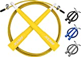 RDX Adjustable Skipping Rope For Weight Loss and Workout Training, Boxing MMA PVC Metal Jump Cable Exercise Speed Gym Fitness Gymnastics Jumping