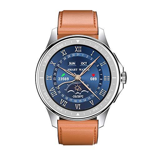 BNMY Smartwatch Llamada Bluetooth Reloj Inteligente Impermeable con Monitor Frecuencia Cardíaca Monitor Sueño Podómetro Seguimiento Actividad Física con Pantalla Táctil para Android iOS,C