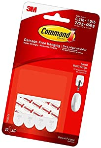 INCLUDES - 20 Indoor Small Replacement Strips RE-HANG HOOKS – Reorganize when inspiration strikes! Command Small Refill Strips make it easy to hang and rehang your Command indoor hooks, damage-free ORGANIZE DAMAGE-FREE - Say goodbye to holes, marks, ...