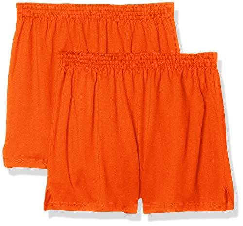 Soffe womens Authentic Cheer Shorts, Orange (2-pack), Medium US