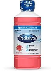 Pedialyte Electrolyte Solution, Hydration Drink, Strawberry, 1 Liter