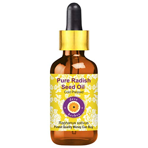 Deve Herbes Pure Radish Seed Oil 100ml (Raphanus sativus) with Glass Dropper 100% Natural Therapeutic Grade (3.38oz)