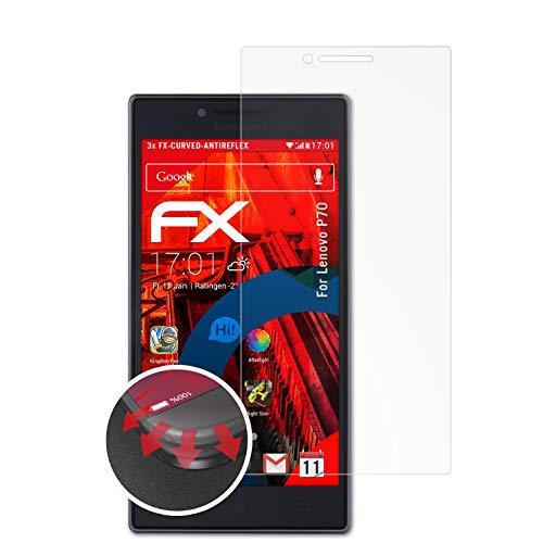 atFolix Schutzfolie kompatibel mit Lenovo P70 Folie, entspiegelnde & Flexible FX Bildschirmschutzfolie (3X)
