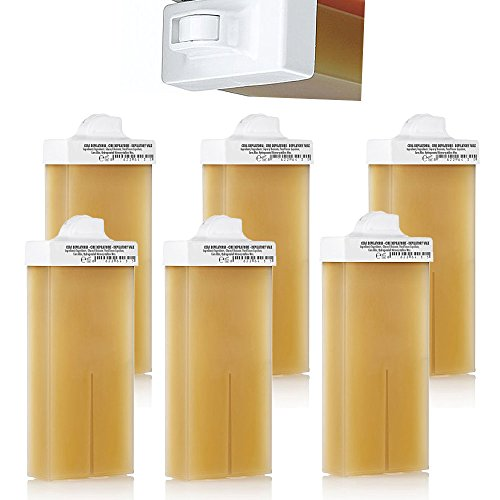 Kosmetex Wachspatrone Honig 6er Set, Enthaarungswachs, Warmwachspatronen, Körperpflege, Haarentfernung, Mini