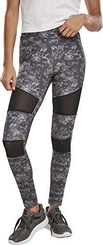 Urban Classics Damen Ladies Tech Mesh Leggings, Dark digital camo, M