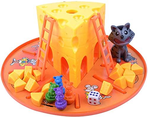 Juego de mesa para niños con diseño de gato y ratón para 4 jugadores.