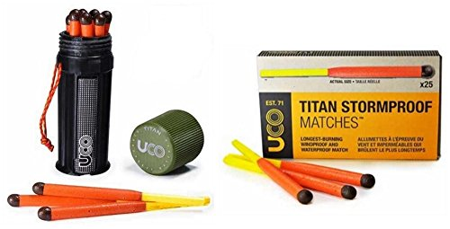 Bundle - 2 Items: 1 Titan Stormproof Match Kit and 1 Box Titan Stormproof Matches