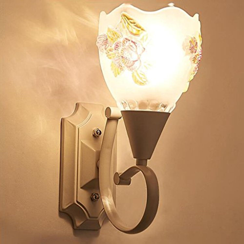Madaye Europisch einfach LED Lampe Wohnzimmer Gang Korridor Bett Glas Wandleuchte