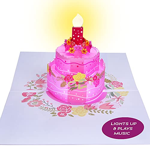 100 Greetings LIGHT & MUSIC Pop Up Happy Birthday Card – Plays Hit Song 'Just the Way You Are' -...