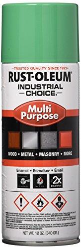 Rust-Oleum 1633830 1600 System Multi-Purpose Enamel Spray Paint, 12-Ounce, Safety Green