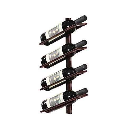 Barra de Vino de Hierro Barra Retro Pared Colgante de Vino Creativo Simple Botella de Vino (Size : 4 Layers)