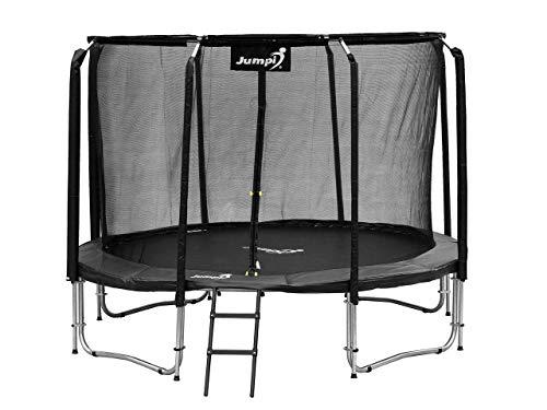 Trampolín 10 FT (312 cm) Maxy Comfort, trampolín de jardín, diversión al Aire Libre, Estructura Estable y Segura, diseño Moderno, resortes sólidos, para niños, para Adultos (Negro)