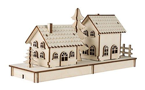 Rayher Hobby 46300000 Holzbausatz, Holz, Braun, One Size