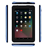 Haehne 7 inch Tablet, Android 6.0, Quad Core Processor, 1G RAM 16GB Storage, IPS HD Display, Dual Camera, FM, WiFi Only, Bluetooth, Blue