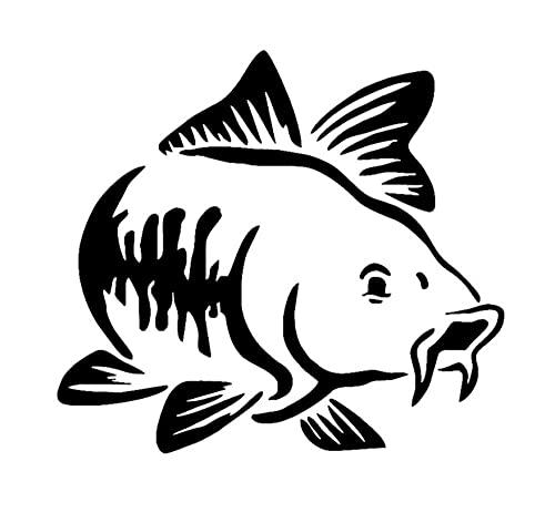 MDGCYDR Pegatinas Coche 13,8X12,5 Cm Encantador Estilo De Coche Kayak Barco Carpa Pesca Tribu Reflectante Auto Calcomanía Patrón De Dibujos Animados Vinilo En El Cuerpo del Parachoques del Coche