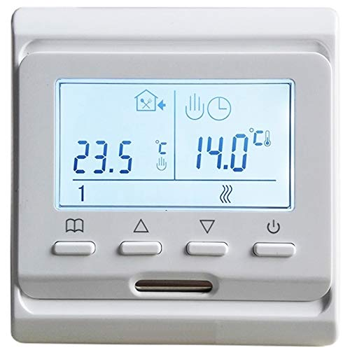 HEQIE-YONGP Controladores de Temperatura de visualización Digital 2pcs 16a LCD Controlador de Piso Caliente programable, Piso de calefacción de Piso Digital eléctrico Termostato de Aire