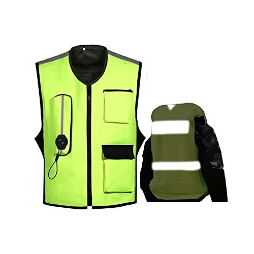 Chaleco De Airbag De Temporada Completo Chaleco De Airbag Liviano De La Motocicleta Con Cinturón Reflectante, Cintura Ajustable. (M-2XL, No Equipado Con Cartucho De Cilindro De Gas De CO2) Equipo de c