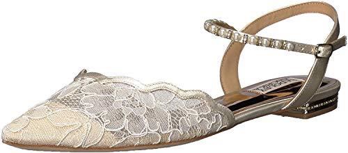Badgley Mischka Women's Lennon Ballet Flat, Ivory lace, 5.5 M US