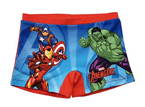 Avengers Bañador para Niños, Slip Cortos de Natación Infantil, Bañador Bóxer, Bañador Transpirable Secado Rápido, 4 Años | Rojo