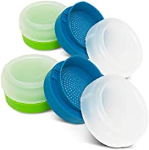 Masontops Kefir Caps - Wide Mouth Mason Jar Lids - Live Culture Grains Strainer - Home Fermentation Starter Kit - 4 Pack