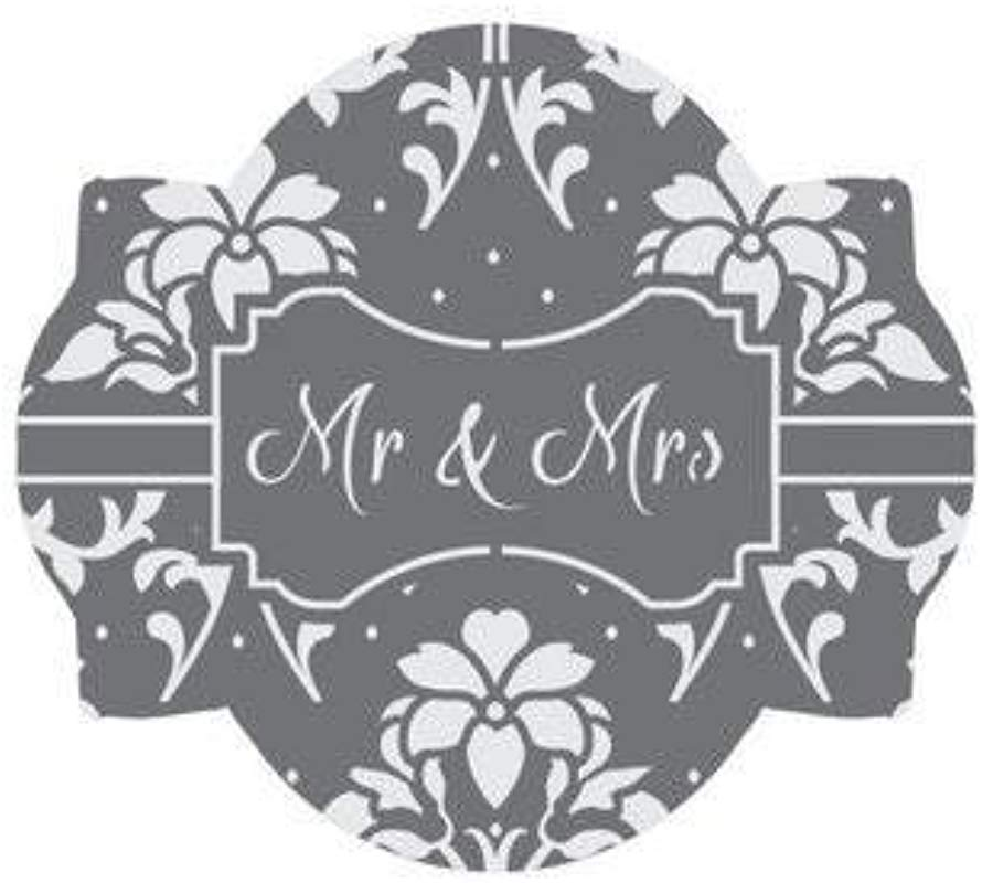 Mr Mrs Prettier Plaques Cookie Stencil Set By Julia Usher