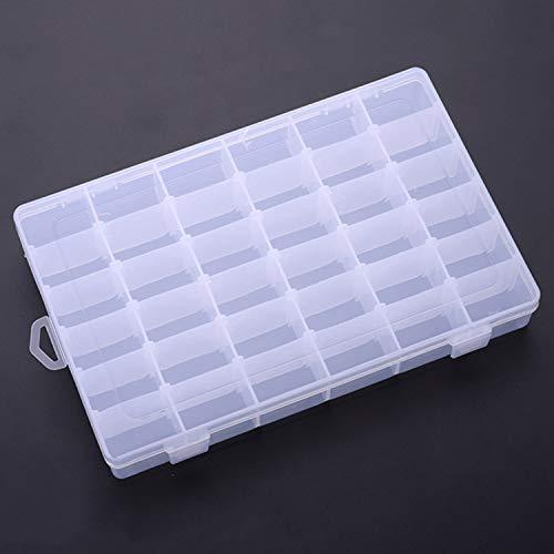 Scott John Fashion - Scatola portaoggetti Staccabile con 24 Griglie 36 in plastica Trasparente per Cosmetici e Attrezzi da Pesca 1