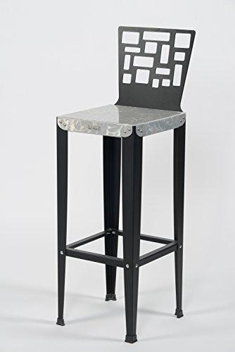 Styl'Métal 21 Lot 2 chaises de Bar Lilou D5 métal Noir H80